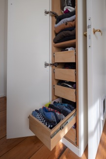 One close includes drawers for small items